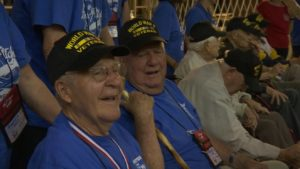 Veterans participating in the Utah Honor Flight are treated to a welcome home ceremony at the Dixie Center St. George. St. George, Utah, May 28, 2016 | Photo by Austin Peck, St. George News