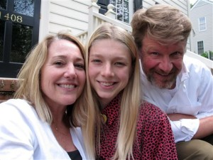 Hunter Schafer poses with parents Katy and Mac on the front porch of their home. The 17-year-old transgender youth is a plaintiff in a lawsuit against North Carolina's recently enacted House Bill 2, which overturned LGBT protections put in place by the city of Charlotte. Raleigh, North Carolina, May 13, 2016 | Photo by Allen G. Breed (AP), St. George News