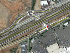 Graphic of the layout of I-15's widening between Exits 8 and 10 and the Mall Drive underpass.   Image courtesy of the Utah Department of Transportation, St. George News