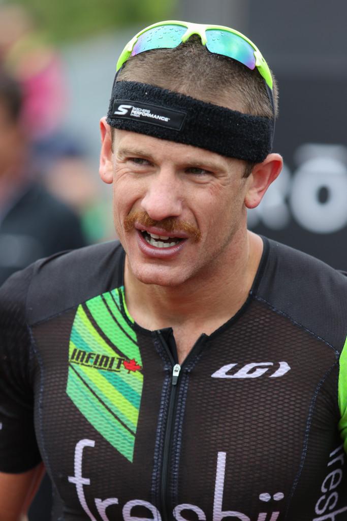Winner Lionel Sanders, Ironman 70.3, St. George, Utah, May 7, 2016,   Photo by Kevin Luthy, St. George News