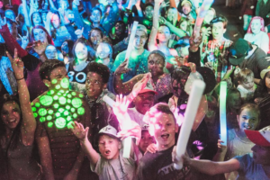 Kids enjoy a glowing dance party during George Streetfest, St. George, Utah, date not specified | Photo by Nick Adams, courtesy of Emceesquare Media Inc., St. George News