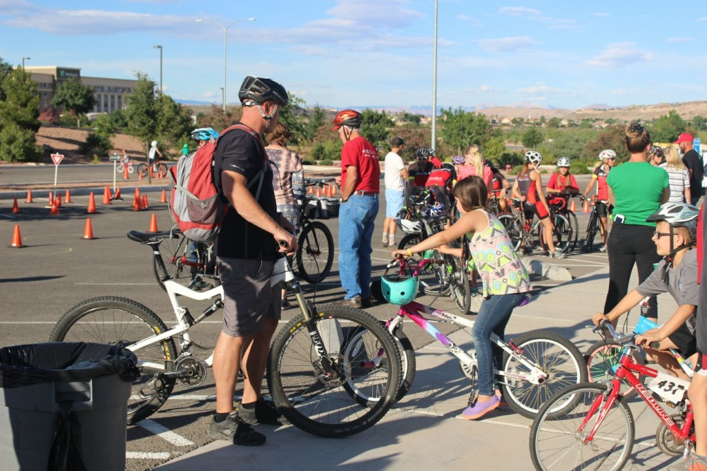 """At the """"Bike with Pike"""" cycling event sponsored by the City of St. George in observance of National Bike Month, St. George, Utah, May 16, 2016 