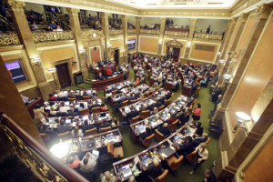 In this file photo, the Utah House of Representatives debate on the floor in Salt Lake City. A first-in-the-country requirement that women receive anesthesia before abortions after 20 weeks of pregnancy is one of about 350 new Utah laws that take effect Tuesday, May 10, 2016. Salt Lake City, Utah, March 10, 2016 | Photo by Rick Bowmer (AP), St. George News)