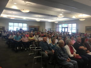 A large crowd attends the Memorial Day ceremony held at the Southern Utah Veterans Home in Ivins, Utah, May 30, 2016 | Photo by Hollie Reina, St. George News