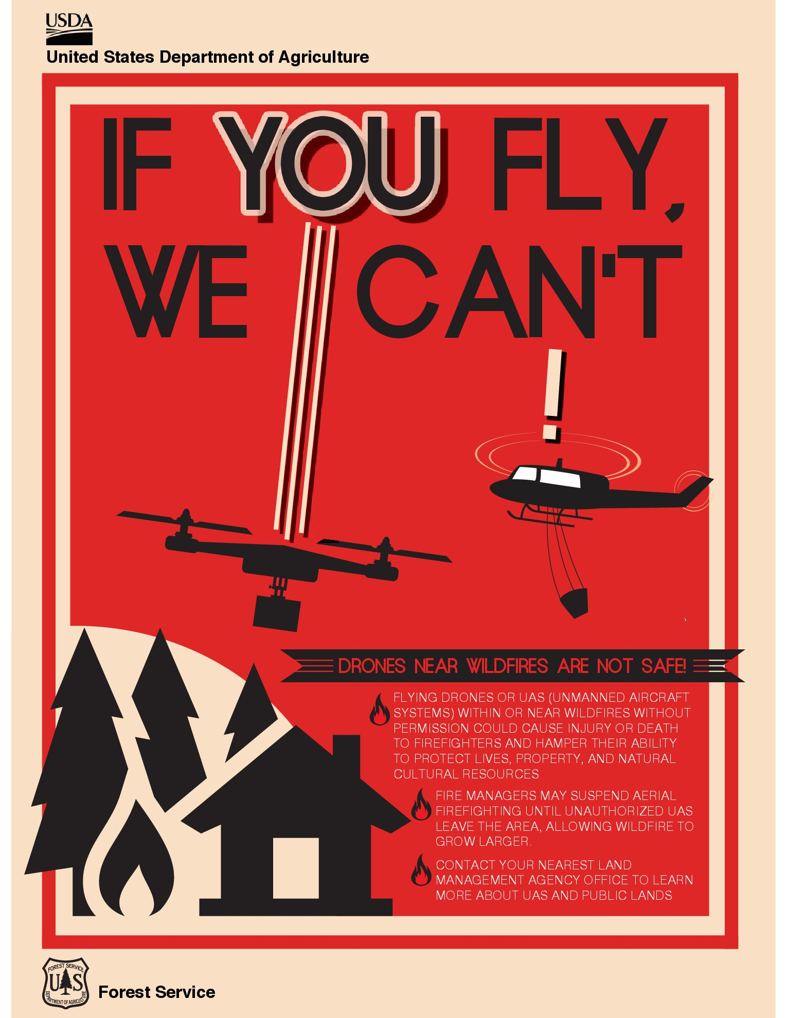 A drone spotted over the Aspen and Pine Canyon fires have grounded all aerial operations | Image courtesy of National Forest Service, St. George News