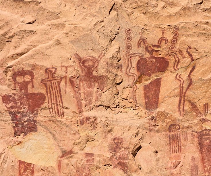 Many believe pictographs such as these near Thompson Springs, Utah, represent either aliens or spiritual beings, July 16, 2010 | Photo courtesy of Rennett Stowe via Flickr, St. George News