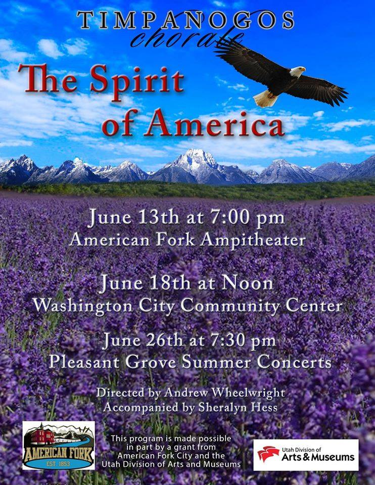Flier courtesy of Timpanogos Chorale, St. George News | Click on flier to enlarge