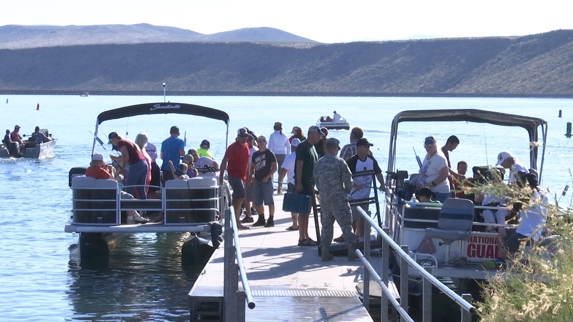 The 10th annual Fish 'n Fun fishing derby helped disabled people in Washington County get out and enjoy a day on the lake at Sand Hollow State Park. Hurricane, Utah, June 4, 2016 | Photo by Sheldon Demke, St. George News