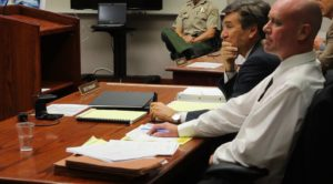 Grant Louis Biedermann is on trial for alleging firing a 40 caliber assault rifle on Sheriff deputies and injuring Deputy Kellen Hudson in 2013, Cedar City, Utah, June 14, 2016 | Photo taken by Mike Kohl, St. George/Cedar City News
