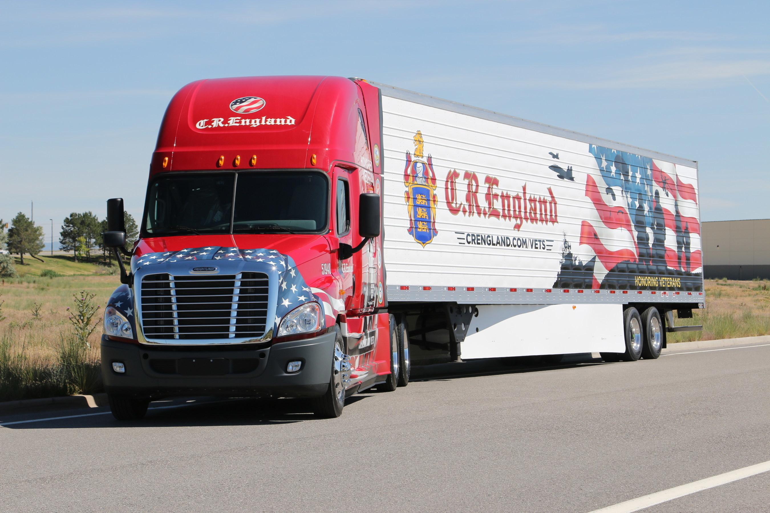 C.R. England Honored Veterans Truck and Trailer (PRNewsFoto/C.R. England, Inc.)