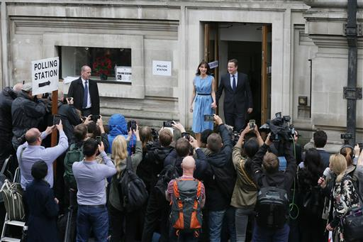 British Prime Minister David Cameron and his wife Samantha leave after casting their votes in the EU referendum at a polling station in London, Thursday, June 23, 2016 | AP Photo/Tim Ireland; St. George News