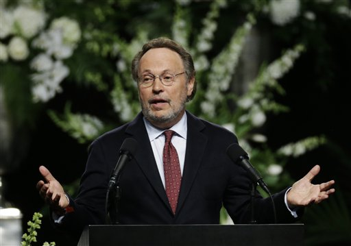 Comedian Billy Crystal delivers a eulogy during Muhammad Ali's memorial service, Friday, in Louisville, Kentucky, June 10, 2016 | AP Photo/David Goldman; St. George News