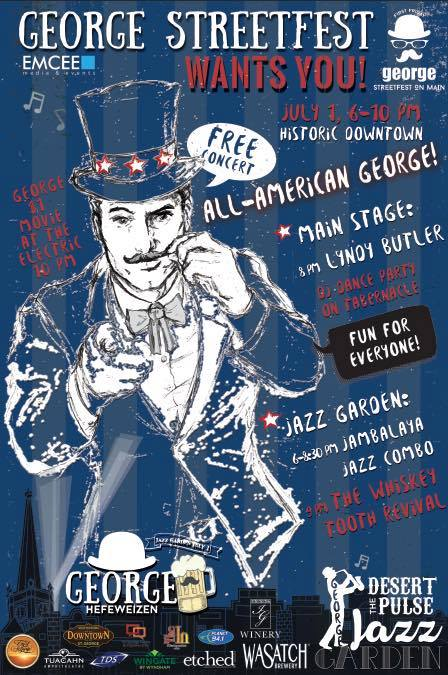 """""""All-American George"""" George Streetfest event poster, location and date not specified 