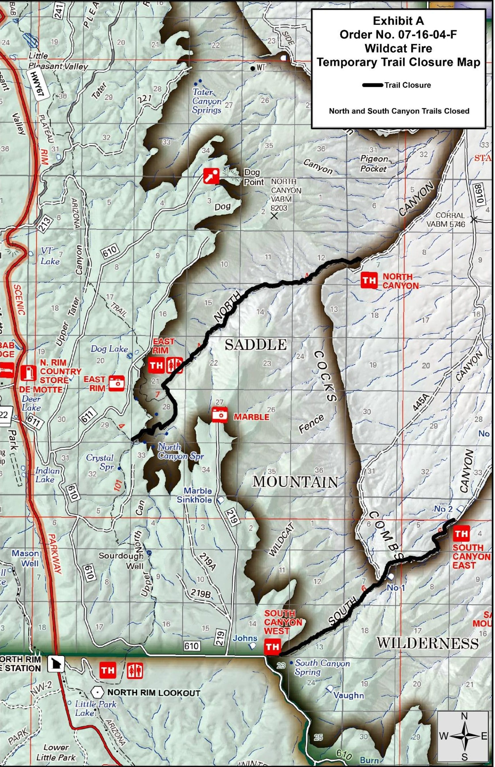 Wildcat Fire Near Grand Canyon Surpasses 1 500 Acres New Trail