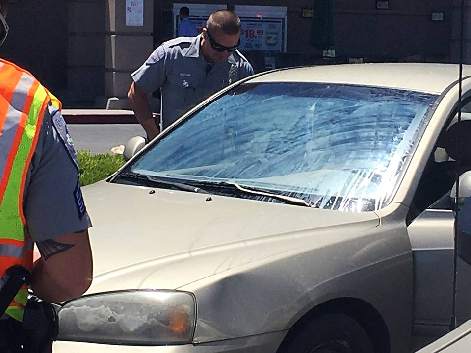 A woman was struck by a man driving a gold Hyundai in the Albertsons parking lot crosswalk, Washington City, Utah, June 17, 2016   Photo by Kimberly Scott, St. George News
