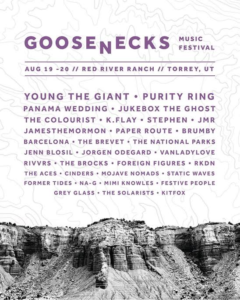The lineup for the Goosenecks Music Festival, location and date not specified | Image courtesy of Goosenecks Music Festival, St. George News