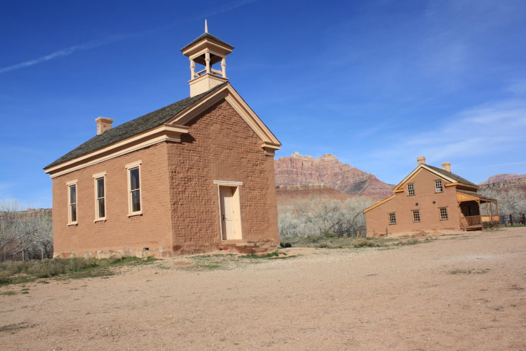 Russell House and Schoolhouse, Grafton ghost town, Utah, date unspecified | Photo by Reuben Wadsworth, St. George News