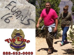 Man and woman suspected of vandalizing rocks in Grand Canyon National Park, May 22, 2016 | Photo courtesy of NPS Investigative Services Branch, St. George News