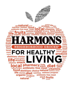 Harmons Neighborhood Grocer healthy living logo. Location and date not specified | Image courtesy of Harmons Neighborhood Grocer, St. George News