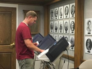 Iron County residents vote in Tuesday's primary election, June 28, 2016, Cedar City, Utah | Photo by Tracie Sullivan, St. George News/Cedar City News