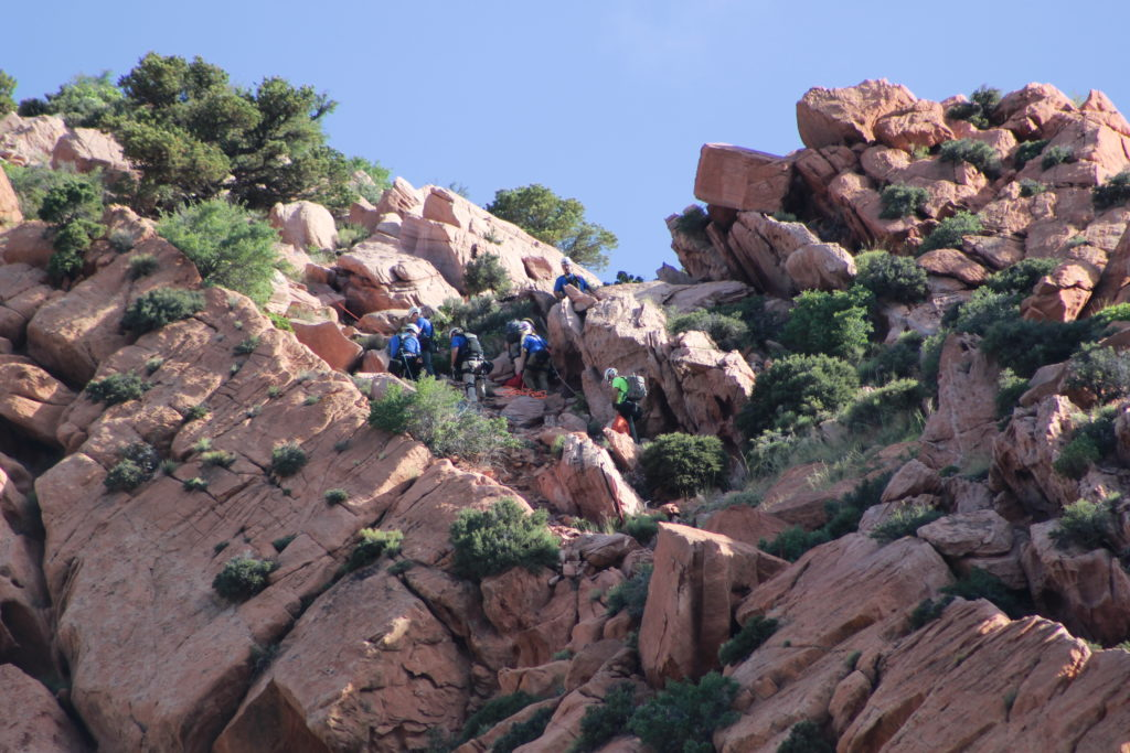 Iron County Sheriff's Ropes Team rescues a hiker from a 600-foot cliff in Cedar City Saturday, Cedar City, Utah, June 11, 2016 | Photo by Tracie Sullivan, St. George News / Cedar City News