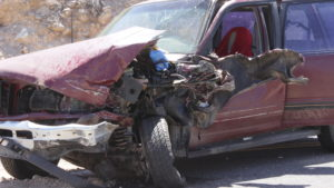 A head-on collision between a Ford SUV and a delivery vehicle sent one man to the hospital Friday, Shivwits Indian Reservation, Utah, June 10, 2016 | Photo by Don Gilman, St. George News