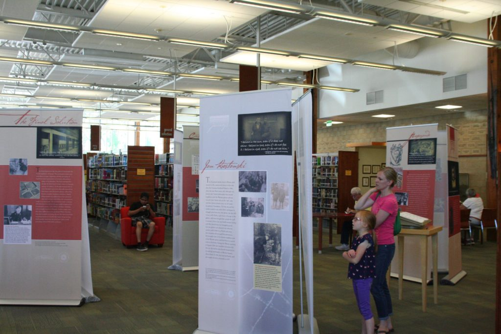 Community members learn about the lives and stories of six WWII era teenagers who changed our world, Cedar City, Utah, June 6, 2016 | Photo by Kaleigh Bronson, St. George/Cedar City News