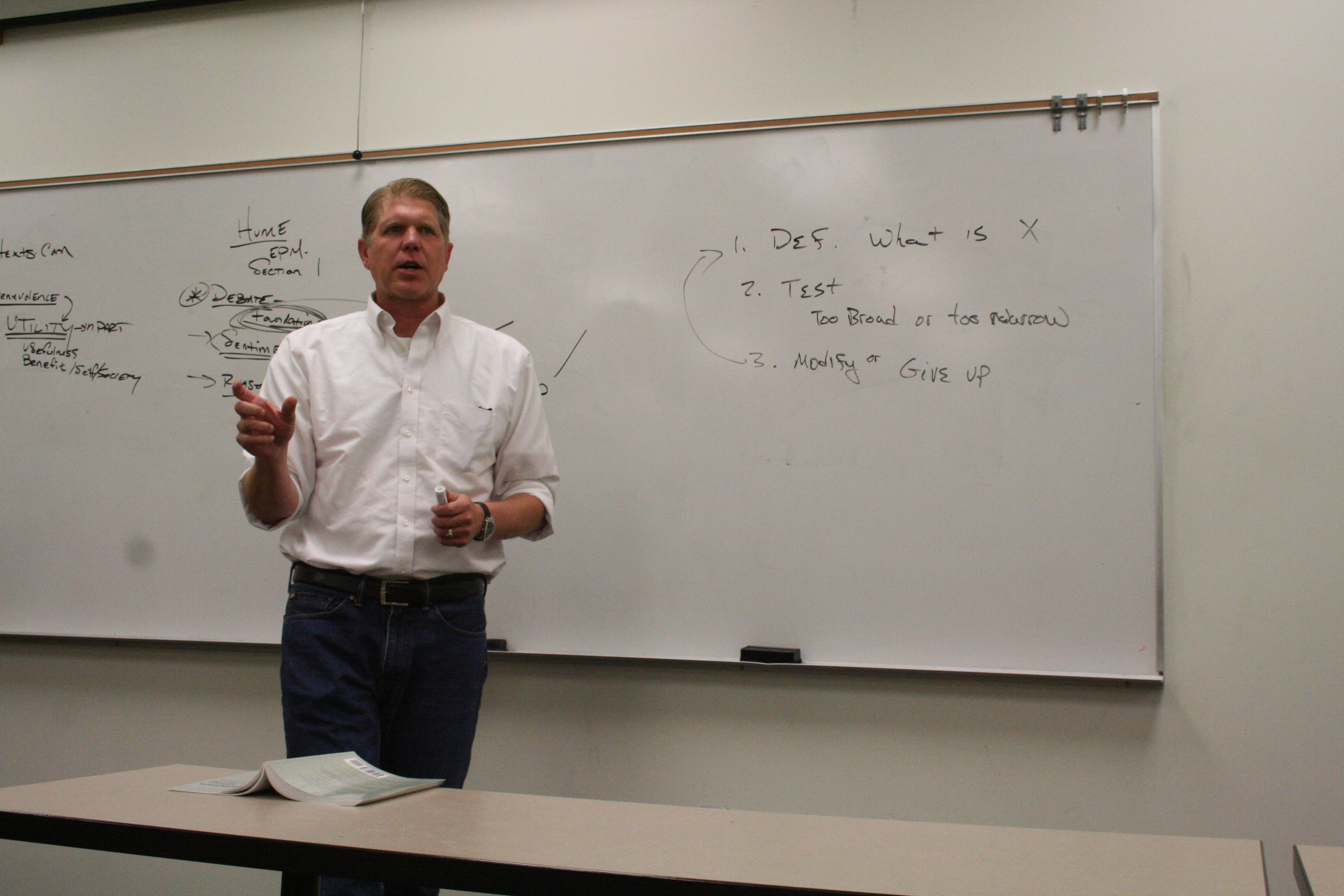 "Dr. Kirk Fitzpatrick lectures on the ""Euthyphro dilemma"" to students at the Utah Lyceum philosophy camp, Cedar City, Utah, June 9, 2016 