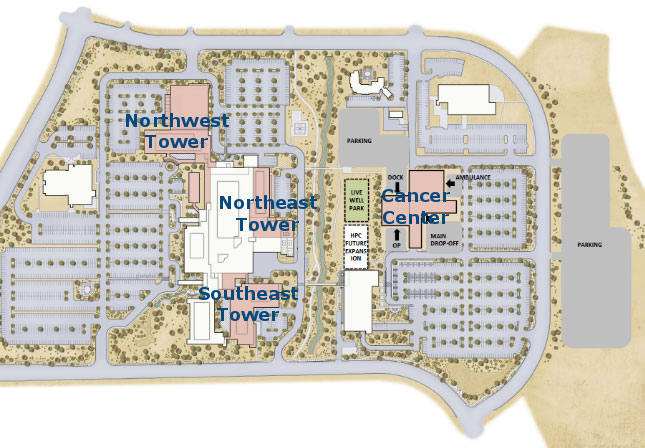 Expansion plan for Dixie Regional Medical Center. New buildings are shown in pink | Photo courtesy of Intermountain Healthcare, St. George News