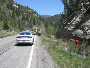 A rollover accident on SR-14 Saturday resulted in a man being airlifted to the hospital and investigated by authorities for suspicion of a possible DUI, Iron County, Utah, June 4, 2016 | Photo courtesy of Utah Highway Patrol, St. George/Cedar City News