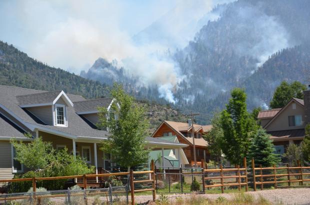 Saddle Fire Burning in Lloyd Canyon, Washington County, Utah, June 28, 2016 | Photo courtesy of InciWeb, St. George News