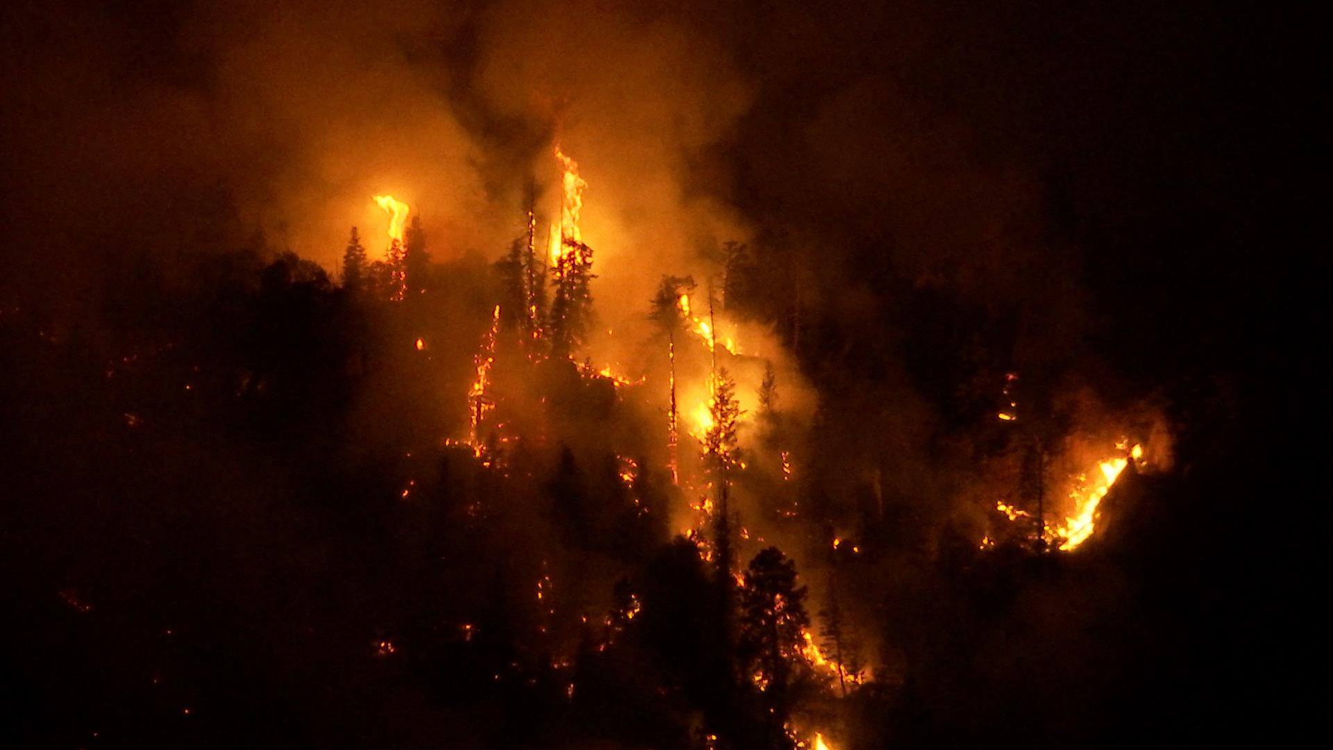 Lightning-caused fire burning on Saddle Mountain in the Pine Valley Wilderness of the Dixie National Forest, Washington County, Utah, June 24, 2016 | Photo by Michael Durrant, St. George News