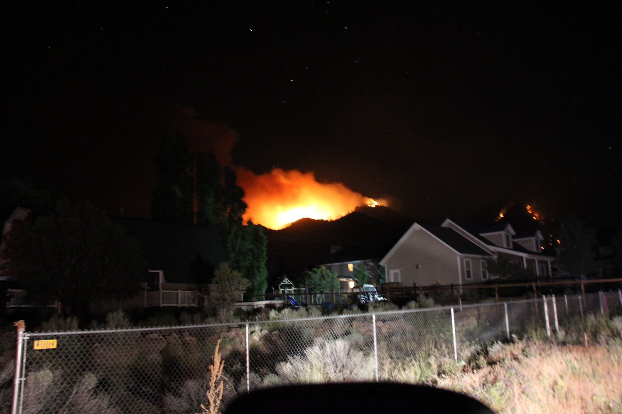 Lightning-caused fire burning on Saddle Mountain in the Pine Valley Wilderness of the Dixie National Forest, Washington County, Utah, June 23, 2016 | Photo courtesy of Washington County Sheriff Cory Pulsipher, St. George News
