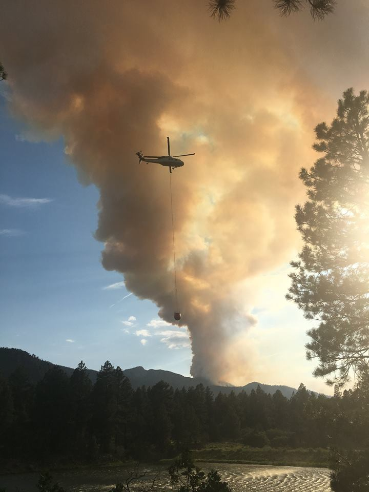 Fire crews perform an aerial attack over a lightning-caused fire burning on Saddle Mountain in the Pine Valley Wilderness of the Dixie National Forest, Washington County, Utah, June 23, 2016 | Photo courtesy of U.S. Forest Service, St. George News