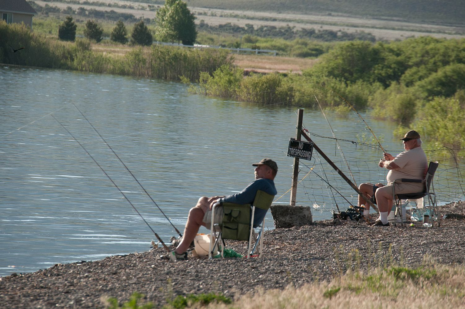 Shore fishing at Otter Creek, photo for illustration. Antimony, Utah, date not specified | Photo by Kathy Lillywhite, St. George News