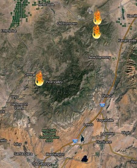 Fire Moves Toward Pine Valley Closing Roads Campgrounds