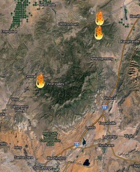 Southwest Fires Map