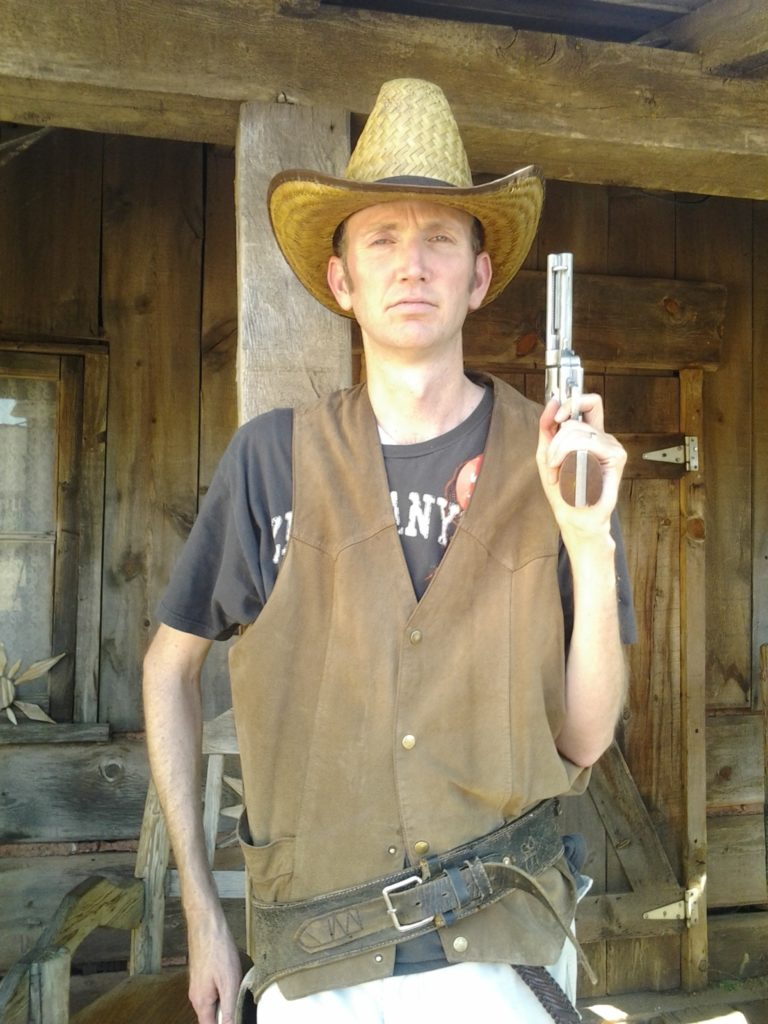 The author dressed up in Old West garb at Little Hollywood Museum | Photo by Reuben Wadsworth, St. George News