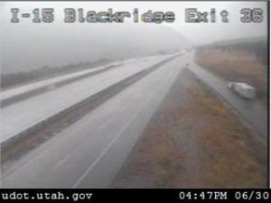 Image from a Utah Department of Transportation camera on Interstate 15, Exit 36, on the Black Ridge, June 30, 2016, St. George, Utah |Photo courtesy UDOT, St. George News
