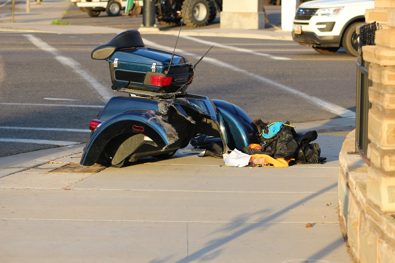 Cgb 60 Year Old Woman On Harley Trike Collides With Pickup Truck