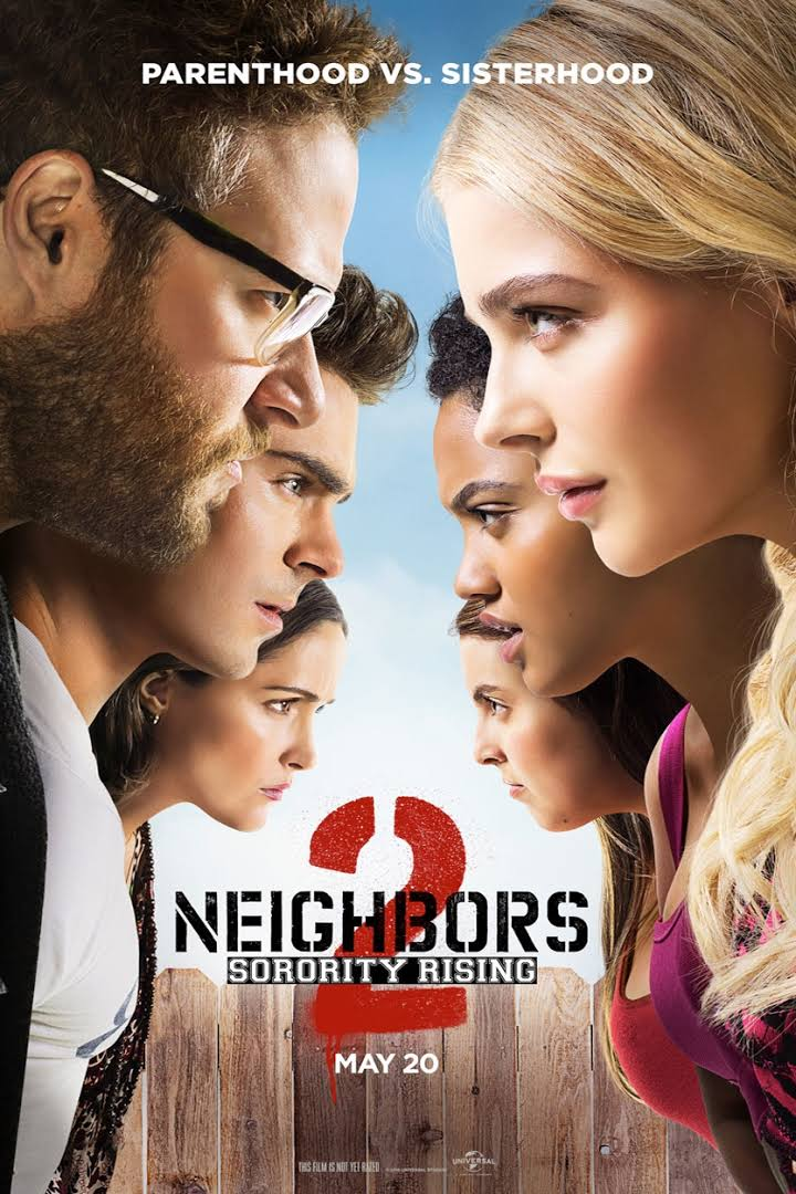 "Movie poster for ""Neighbors 2: Sorority Rising"" 