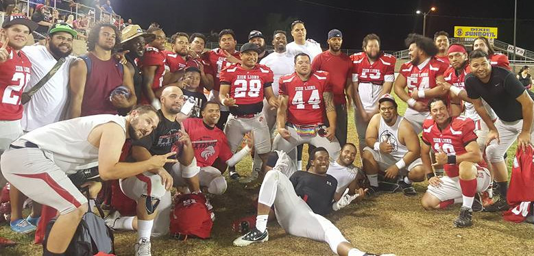 Zion Lions pose after the championship game Saturday, Zion at Wasatch, Ogden, Utah, Jun. 25, 2016 | Photo courtesy Bobby Robledo