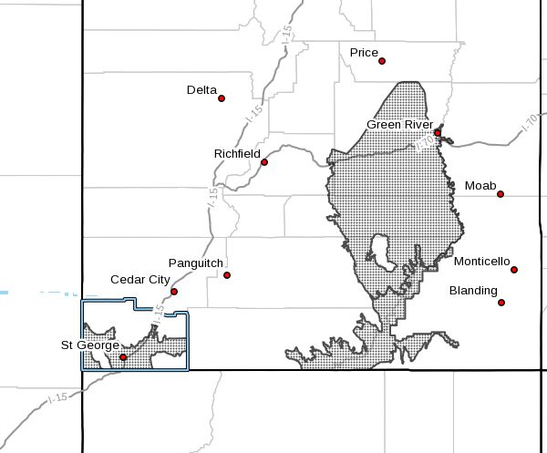 The National Weather Service has issued an excessive heat watch for Southern Utah | Image courtesy of National Weather Service, St. George News