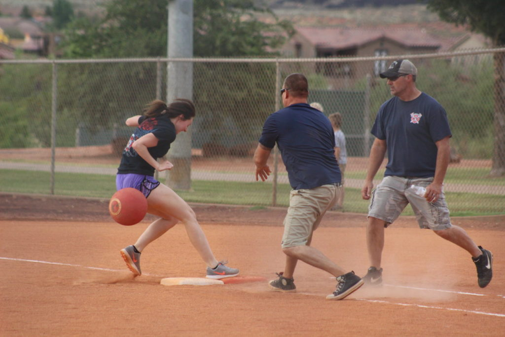 At the Kickball With Cops event hosted by the Santa Clara-Ivins Police Department, Santa Clara, Utah, June 10, 2016 | Photo by Mori Kessler, St. George News