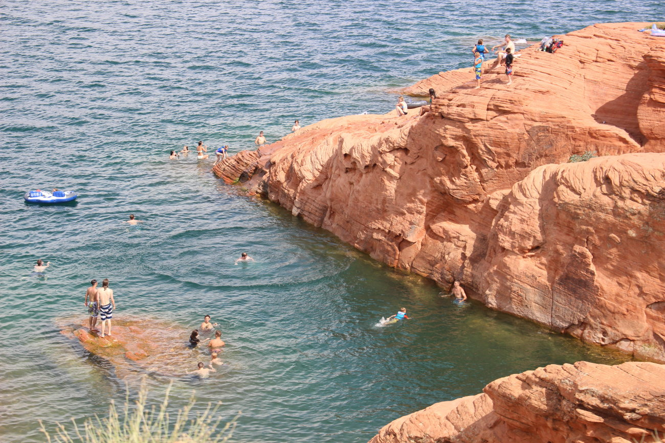 "The ""jumping rocks"" at Sand Hollow State Park, Hurricane, Utah, June 28, 2016 