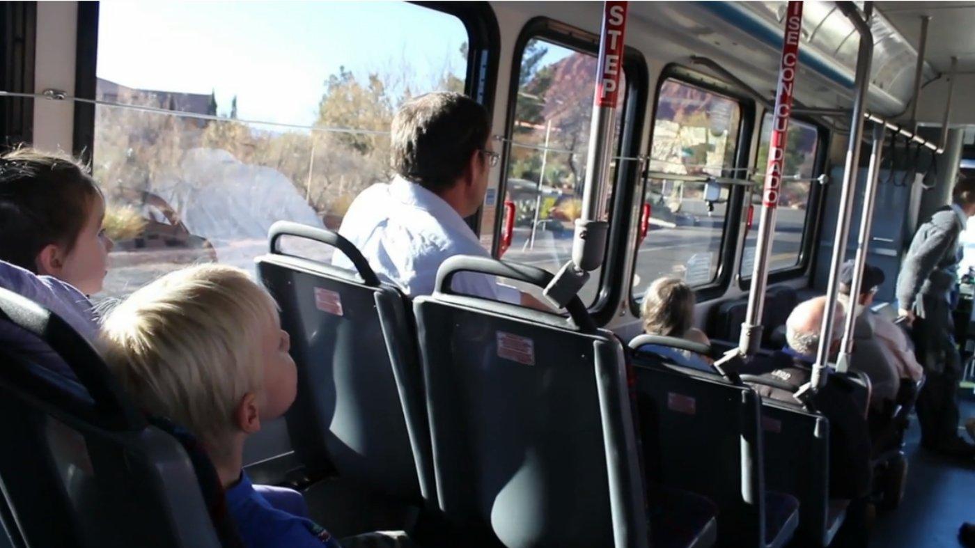 Inside a SunTran bus, Ivins, Utah, Jan. 22, 2016   Photo by Mori Kessler, St. George News