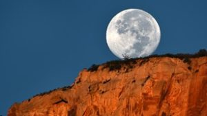 Moon over Zion National Park, undated | Photo courtesy of National Park Service, St. George News