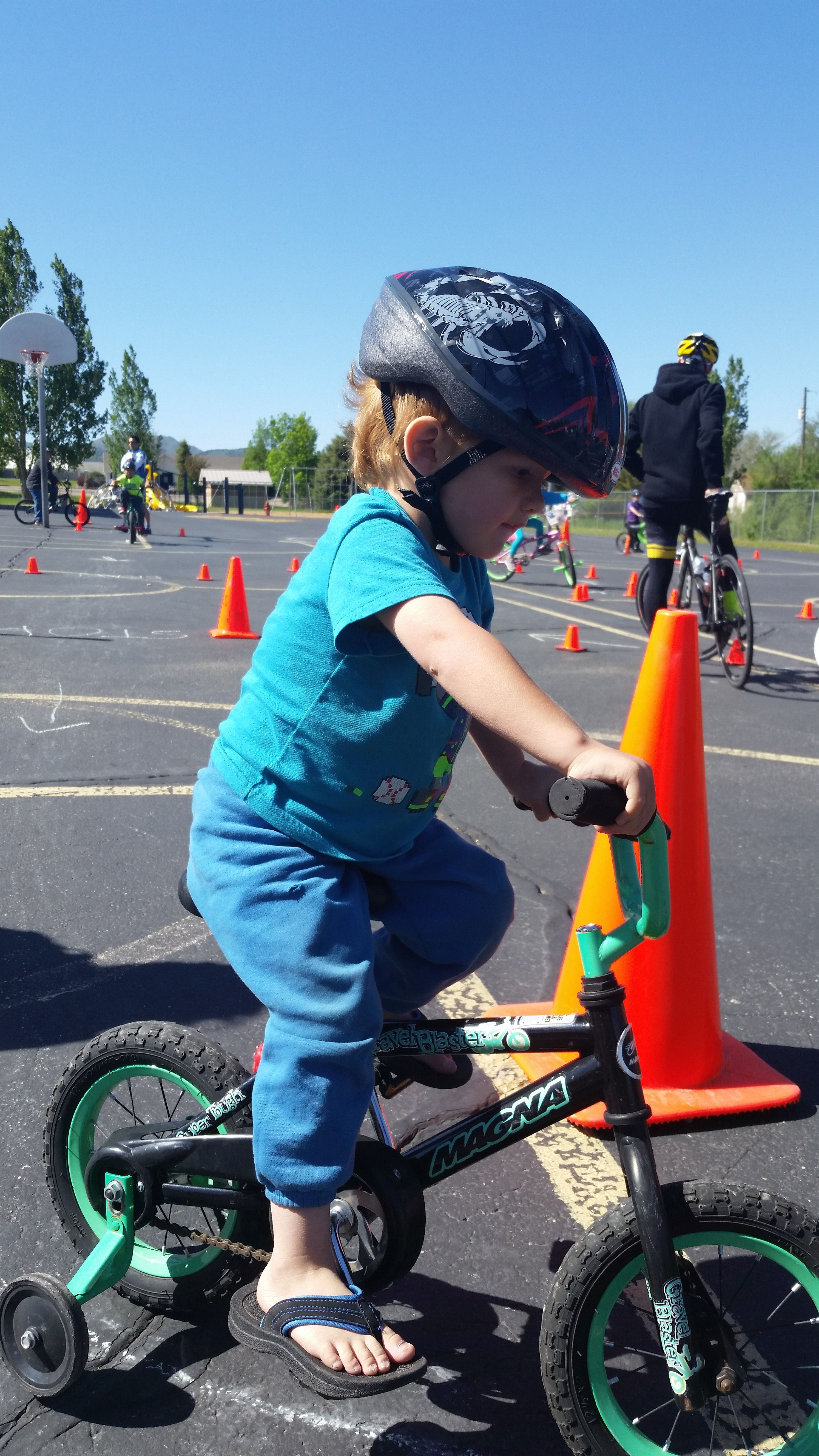 A young rider enjoys the activities at the Washington County Road Respect event in Enterprise, May 21, 2016 | Photo courtesy of Kai Reed, St. George News