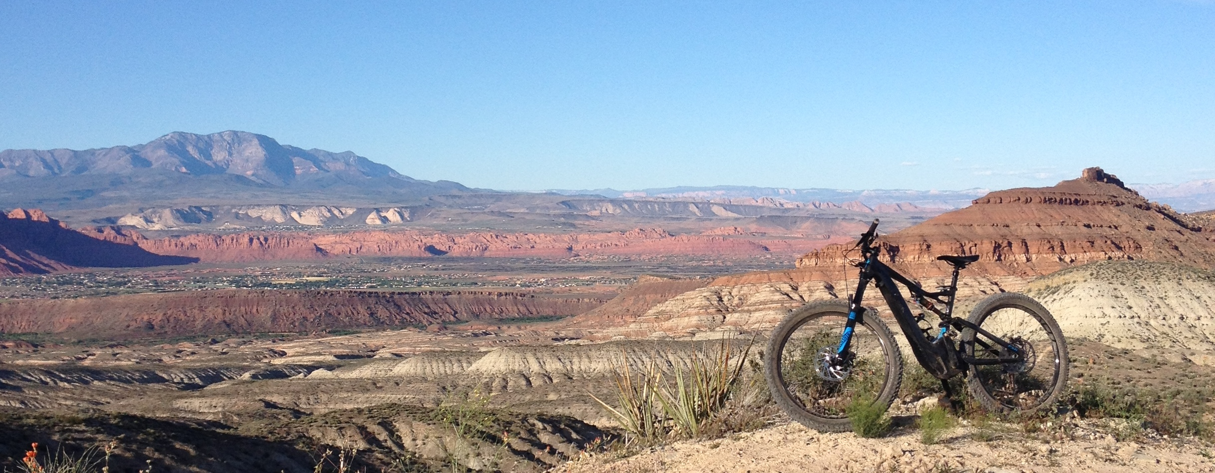 Specialized's Turbo Levo in its natural habitat, Cove Wash, Southern Utah | Photo by Mitch Curwen, St. George News