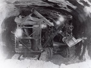 Erie air shovel used in construction of the Zion Tunnel, Springdale, Utah | Photo courtesy of Washington County Historical Society, St. George News